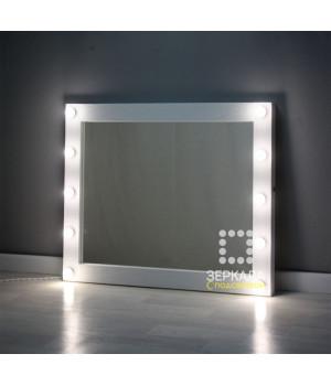 Гримерное зеркало с подсветкой из ламп по бокам 90х110 см